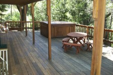 A Nice Big Redwood Deck To Relax On